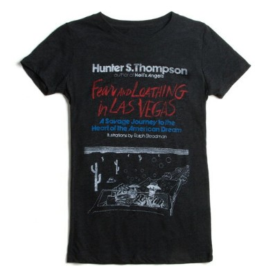 【Out of Print】 Hunter S. Thompson / Fear and Loathing in Las Vegas Tee (Black) (Womens)