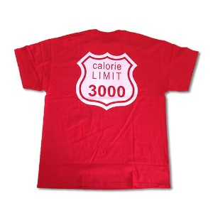 RHC Ron Herman (ロンハーマン): WXL (ダブルXL) Calorie Limit Tシャツ Red