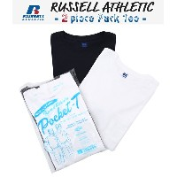 【SALE/セール】RUSSELL ATHLETIC [ラッセルアスレチック] / 2 piece Pack Tee -White×Navy- (2ピース Tシャツ 半袖 カットソー 2パック...
