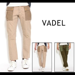 【5000円】【VADEL(バデル)】grangewash & canvas M44 tight & easy cargo pants カーゴパンツ