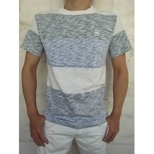 "G-STAR RAW[ジースター]【BRALLIO RT S/S】""JISOE JERSEY INSIDE-STRIPE""""REGULAR FIT""ショートスリーブ裏ボーダープリントTee★MILK..."