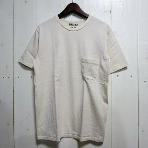 mixta ミクスタ [pocket tee][ss][crew][solid][natural]