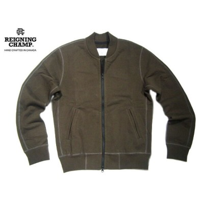 REIGNING CHAMP(レイニングチャンプ)/#3368 HEAVYWEIGHT TERRY VARSITY JACKET/olive【アウトレット】
