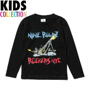 NINE RULAZ LINE(ナインルーラーズ) キッズ 子供服 ROCKERS NYC Collaboration Revolution Kids L/S Tee 長袖 ROCKERS NYC...