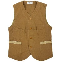 FREEWHEELERS フリーホイーラーズ CONDUCTOR VEST LATE 1800s STYLE WORK CLOTHING COTTON DUCK DRY FINISH RED...
