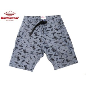 【期間限定30%OFF!】BATTEN WEAR(バテンウェア)OVERHANG SHORTS/chambray custom print【dl】