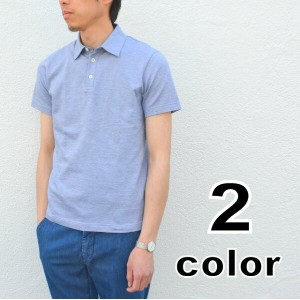 Harris Wharf London(ハリスワーフロンドン)/ Man polo Cotton Shirt -2color-