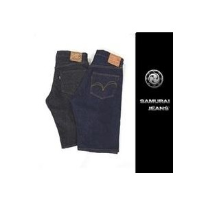SAMURAI JEANS 2017★ジーンズ短パン(17oz武士道セルビッチ,ブラックブラックデニム)(デニムショートパンツ(ワンウォッシュ)S310SP17(サムライジーンズ)【coupon3】