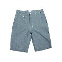 POST OVERALLS(ポストオーバーオールズ)/#1374JC JAPANESE CHAMBRAY MENPOLINI SHORTS/indigo