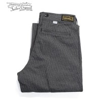 ORGUEIL オルゲイユ 撚り杢|コットンコバート|サスペンダーボタン|トラウザー『Covert Stripe Workers Trousers』【アメカジ・ワーク】OR-1030L(Other...