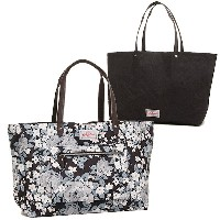 キャスキッドソン バッグ CATH KIDSTON 669962 REVERSIBLE SHOULDER TOTE SKETCHED ROSE トートバッグ CHARCOAL