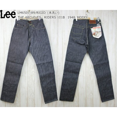 Lee THE ARCHIVES リー アーカイブス 1948 RIDERS 101B ライダース 1948年モデル LM6501-89 OR 未洗い