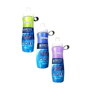 Brita Sport Water Filter Bottle, 20-Ounce, Green/Blue/Purple (Pack of 3) by Brita [並行輸入品]