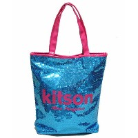 KITSON/キットソン スパンコールトートバッグ BLUE/PINK 【Luxury Brand Selection】【ラッピング無料】【楽ギフ_包装】【10P11Mar16】【05P03Dec16...