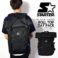 (スターター)STARTER ROLL TOP DAY PACK BLACK ONE
