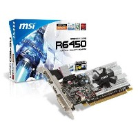 MSI ATI Radeon HD6450 1 GB DDR3 VGA/DVI/HDMI Low Profile PCI-Express Video Card R6450-MD1GD3/LP by...