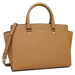 (マイケルコース) MICHAEL KORS バッグ 30S3GLMS7L 198 SELMA LG TZ SATCHEL SAFFIANO LEATHER ショルダーバッグ PEANUT...
