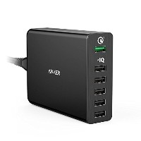 【QuickCharge3.0】AnkerPowerPort+6(60W6ポートUSB急速充電器)Galaxy/Nexus/iPhone/iPad/Android各種対応