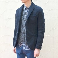 Harris Wharf London(ハリスワーフロンドン)/ Man Jacket Polaire -(358)navy blue-
