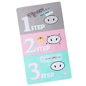 Holika Holika Pig Nose Clear Black Head 3-Step Kit 10EA (Nose Pack) ホリカホリカ ピグノーズクリアブラックヘッド3-Stepキット...