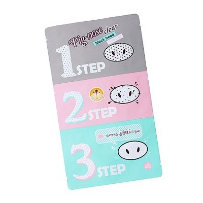 Holika Holika Pig Nose Clear Black Head 3-Step Kit 3EA (Nose Pack) ホリカホリカ ピグノーズクリアブラックヘッド3-Stepキット...