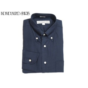 INDIVIDUALIZED SHIRTS(インディビジュアライズド シャツ)/L/S STANDARD FIT B.D. CAMBRIDGE OXFORD SHIRTS/navy