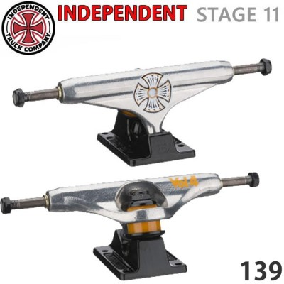 スケボー トラック インディペンデント Stage11 139 Collab VOLUME 4 Silver Black Standard Trucks Independent TRUCK スケボー...