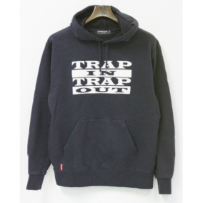 "【中古】 MACKDADDY (マックダディー) P/O HOODIE ""TRAP IN TRAP OUT"" プルオーバーパーカー M NAVY 2012A/W SPOT ITEM"