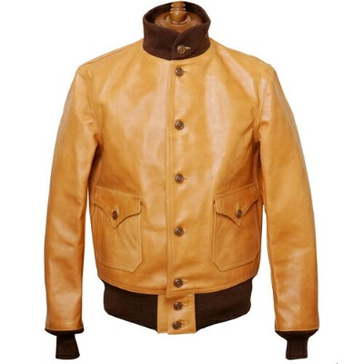 FREEWHEELERS フリーホイーラーズ TYPE A-1 1928 FIRST MODEL EARLY AVIATION TOGS HORSE HIDE GOLD BROWN