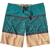 パタゴニア メンズ 水着 海パン【Patagonia Stretch Planing 20 Inch Board Short】Jellyfish Stripe / True Teal