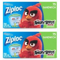 Ziploc Limited Edition Angry Birds Sandwich Bags ( 2Boxes ) ( 150袋合計)