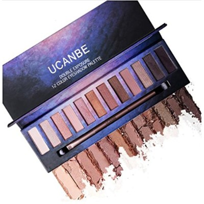 12 Color Nude PRO Eye Shadow Palette Perfect Golden Sleek Smoky Eyeshadow Shimmer Matte Naked...