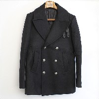■SOLID HOMME WOOYOUNGMI 13AW ウールPコート ブラック 50■b【中古】