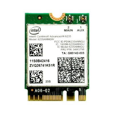Lenovo純正 04W3798 Intel Centrino Advanced-N 6235 300Mbps Dual Band 2x2 802.11a/b/g/n + Bluetooth 4.0...