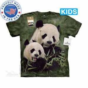 The Mountain Tシャツ The Smithsonian Mama And Baby Panda (The Smithsonian パンダ キッズ 子供用)【輸入品】半袖