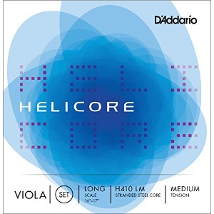 D'Addario ダダリオ ビオラ弦 H410 LM Helicore Viola Strings / Set (4-strings) LongScale 【国内正規品】