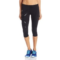 (ツータイムズユー)2XU Women's 3/4 Compression Tights WA1943b  BLACK/BLACK XS