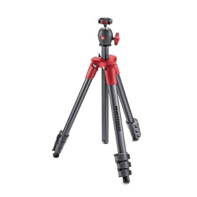 Manfrotto 三脚 COMPACT Light フォトキット アルミ 4段 レッド MKCOMPACTLT-RD