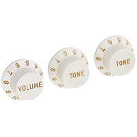 Fender フェンダー パーツ STRATOCASTER KNOBS WHITE