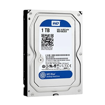 Western Digital HDD 内蔵ハードディスク 3.5インチ 1TB WD Blue WD10EZEX SATA6.0Gb/s  7200rpm 64MB 2年保証