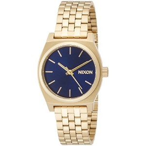 [ニクソン]NIXON MEDIUM TIME TELLER: ALL LIGHT GOLD/COBALT NA11301931-00  【正規輸入品】