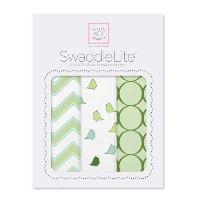 SwaddleDesigns SwaddleLite, Chic Chevron Lite (Set of 3 in Kiwi) by Swaddle Designs