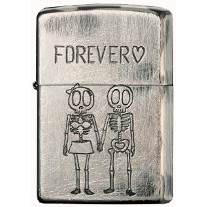 ZIPPO(ジッポー) オイルライター NO200 Funny Skull FOREVER シルバー 2UDS-FOREVER