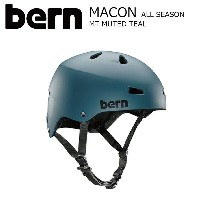 BERN MACON STREET Matte Muted Teal JapanFit スケートボード 自転車 ヘルメット バーン メーコン