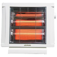 ZEPEAL 電気ストーブ(2灯式石英管) 800W ホワイト DS-A8015-WH