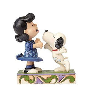 PEANUTS DESIGNS BY JIM SHORE フィギュア スヌーピー&ルーシー Kissing #4055941 4055941