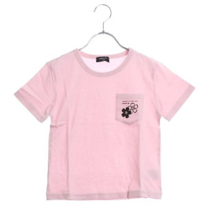 【SALE 50%OFF】コムサイズム COMME CA ISM 【コムサイズムキッズ】ポケット付きプリントTシャツ (ピンク)