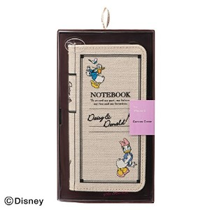ELECOM Disney for iPhone6s / 6 キャンバスカバー デイジーダック&ドナルドダック PM-A14CLFDNY07 PM-A14CLFDNY07