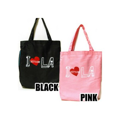 ■【kitson】キットソン キットソン I HEART LA TOTE トートバッグ エコバッグ ピンク/ブラック