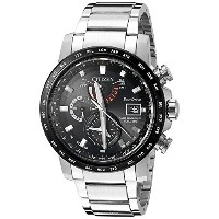 CITIZEN シチズン AT9071-58E World Time A-T Chronograph Perpetual Automatic Men's Watch 男性用 メンズ 腕時計 ...